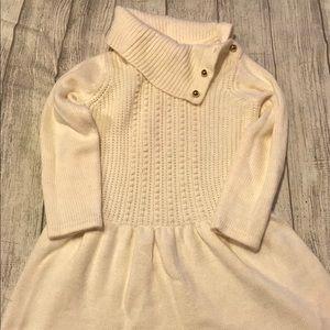 Janie and Jack Cream Sweater Dress
